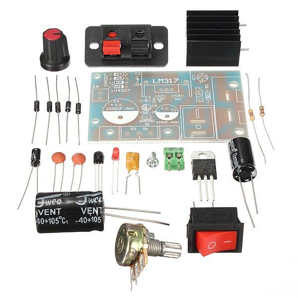 Новое поступление электронный комплект платы DIY Kit LM317 регулируется Напряжение понижающий Питание suite модуль комплект ...