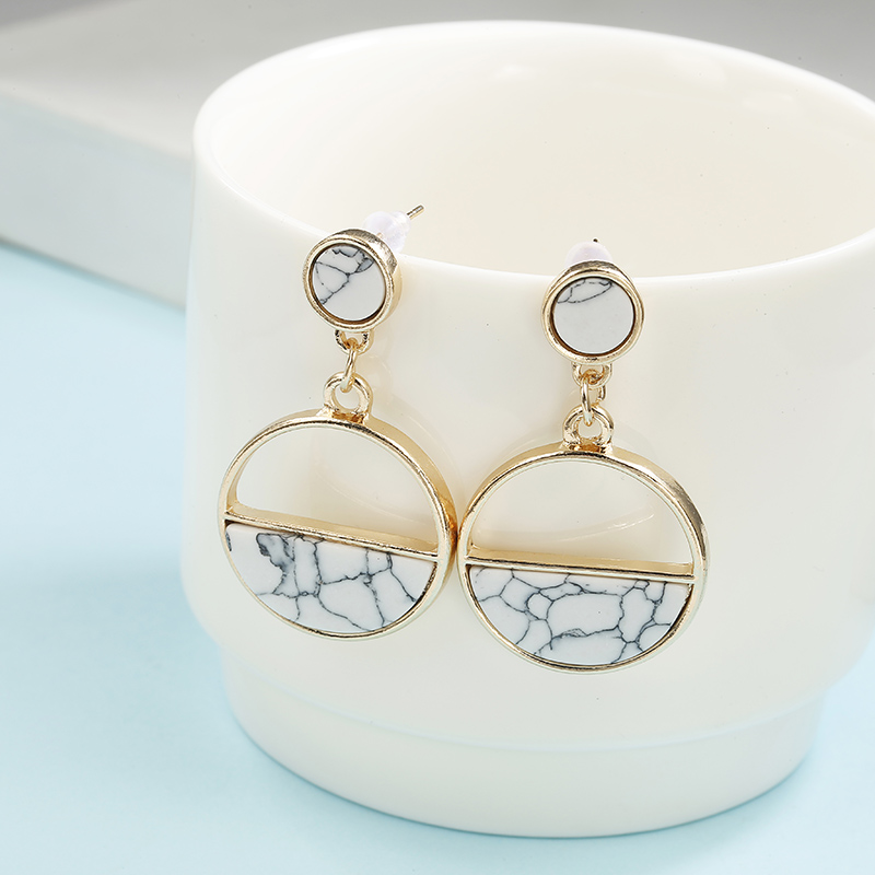 Simple Style Fashion Silver Gold Color Earrings for Women Square Round Geometric Hanging Earrings 18 Female Pendientes Jewelry 32