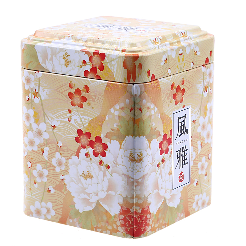 WCIC Retro Chinese Iron Tin Box For Tea Caddy Candy Biscuit Cookie Chocolate Storage Box Coffee Can Sundry Storage Organizer