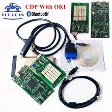 Новейшие V2014.02 С Keygen OBD2 Сканер TCS CDP PRO Диагностический Инструмент Авто Com С Bluetooth CDP OKI Chip (M6636B OKI Chip)