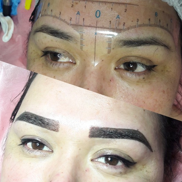 50pcs Disposable Microblading Eyebrow Ruler Sticker Permanent Makeup Accessories 3D Eyebrow Shaping Stencil Tool Tattoo Supplies