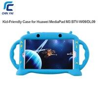 Chinfail Silicone Case For Huawei MediaPad M3 BTV W09 BTV DL09 8 4 Inch Shockproof Soft