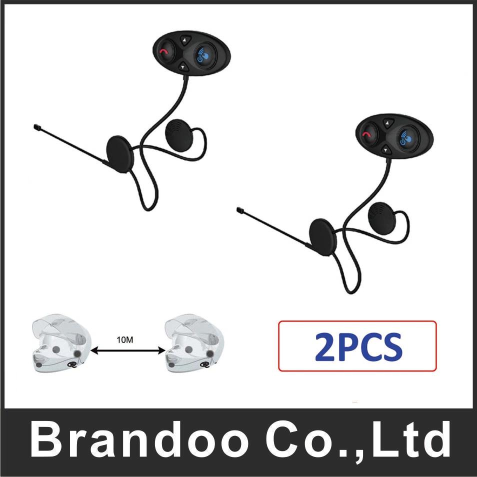2 PCS Motorcycle Helmet Bluetooth Intercom Headset muisc GPS Interphone Wireless Mini Walkie Talkie baiston hw01 professional walkie talkie earphone w m connector black white 2 pcs