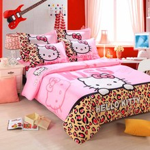 Home Textile Bedding Sets Duvet Cover Set Cartoon Style Bedsheet ,Soft For Kids Adult ,Reactive Printing Queen Full Size