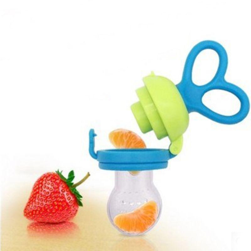 Kids Nipple Feeding Push Bottles Baby Safe Rotary Pacifier Cute Fresh Food Milk Fruit&Vegetable Nibbler Feeder