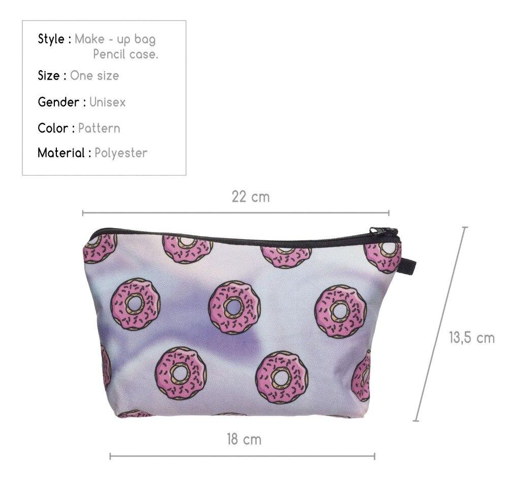 Самые низкие цены 3D печати косметичка дорожная несессер комплект Организатор Для женщин Макияж Чехол чемодан для туалетных принадлежностей