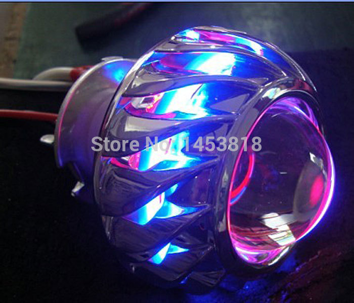 13A 2inch H4 BiXenon HID Projector Lens Motorcycle headlight Yellow Blue Red White Green CCFL Angel eye + 1 pc Slim ballast 2 5 inch h1 h7 9005 9006 bixenon projector lens for motorcycle auto headlight with ccfl angel eyes bule yellow red white purple