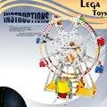 Ferro Comandante do Enigma 3D DIY Bloco De Construção Metálica 945 Pçs/set Ferris Wheel With Music & Luzes, Caixa De Música Melhor presente para As Crianças Brinquedos