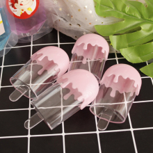 Happy Monkey 50pcs/pack 60ml Ice Cream Slime Containers Plastic Cute Pink Transparent Slime Box