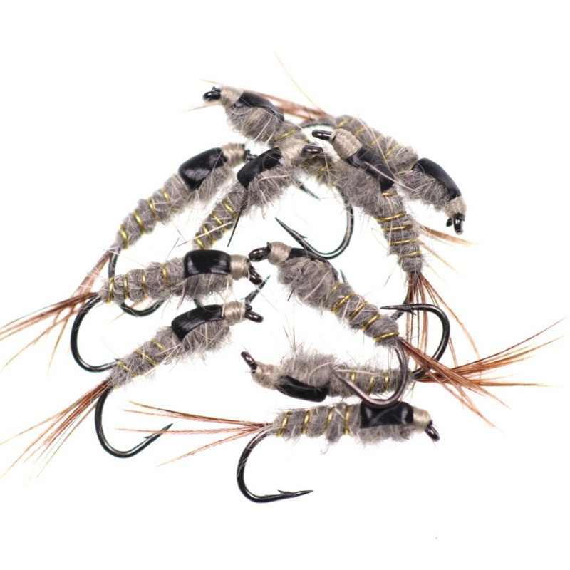 10 sztuk/zestaw Avenger szybko tonący czarny powrót ucho królika drutu wolframu koralik głowy nimfa muchy przynęty do wędkarstwa muchowego na pstrąga #12