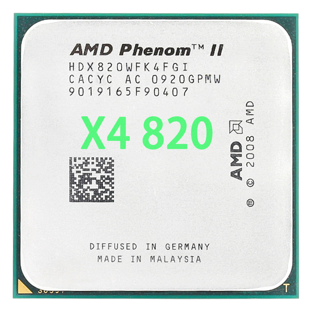 AMD Phenom II X4 820 2.8 GHz Quad-Core CPU Processor HDX820WFK4FGI Socket AM3
