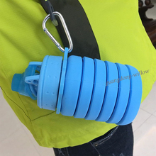 (2 pieces/pack) ENERGE SPRING Silica Gel Retractable water bottle foldable sports folding cup portable
