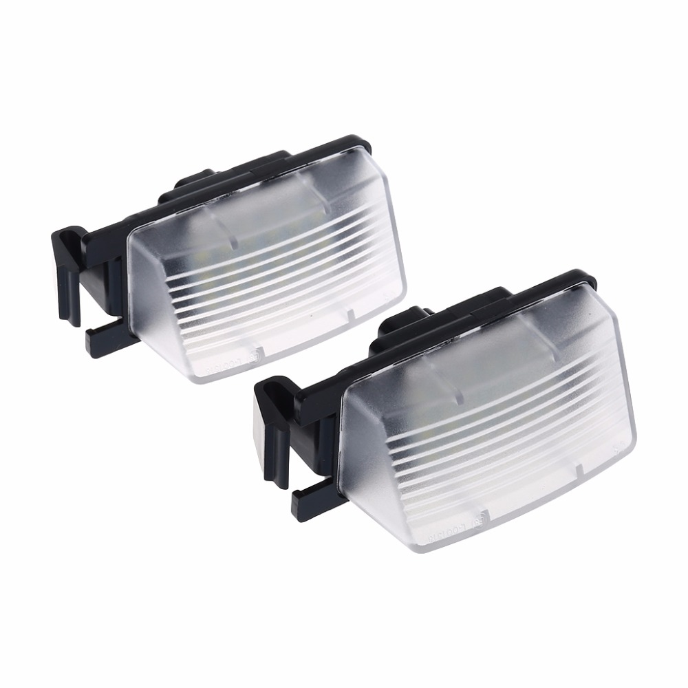 2pcs Direct Fit White Led License Plate Light Lamps For Nissan 370z Fuse Box Gtr Infiniti G37 In From Automobiles Motorcycles On