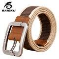 Cinturón de lona táctico cinturones diseñador de alta calidad para Los Hombres y mujeres militares cinturón aguja tejida hebilla BAEIKU marca