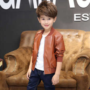 Teenager 2019 New Autumn Kids Boys Leather Jackets Solid Fashion O-neck Zipper Outerwear Jackets for Boy Children Clothes 7jk050 - Category 🛒 Mother & Kids