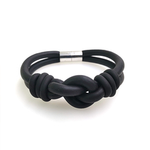 YD&YDBZ Designer Handmade Bracelets For Women 2019 New Rubber Bracelet Bind Fashion Accessories Wholesale Black And Gray Chains