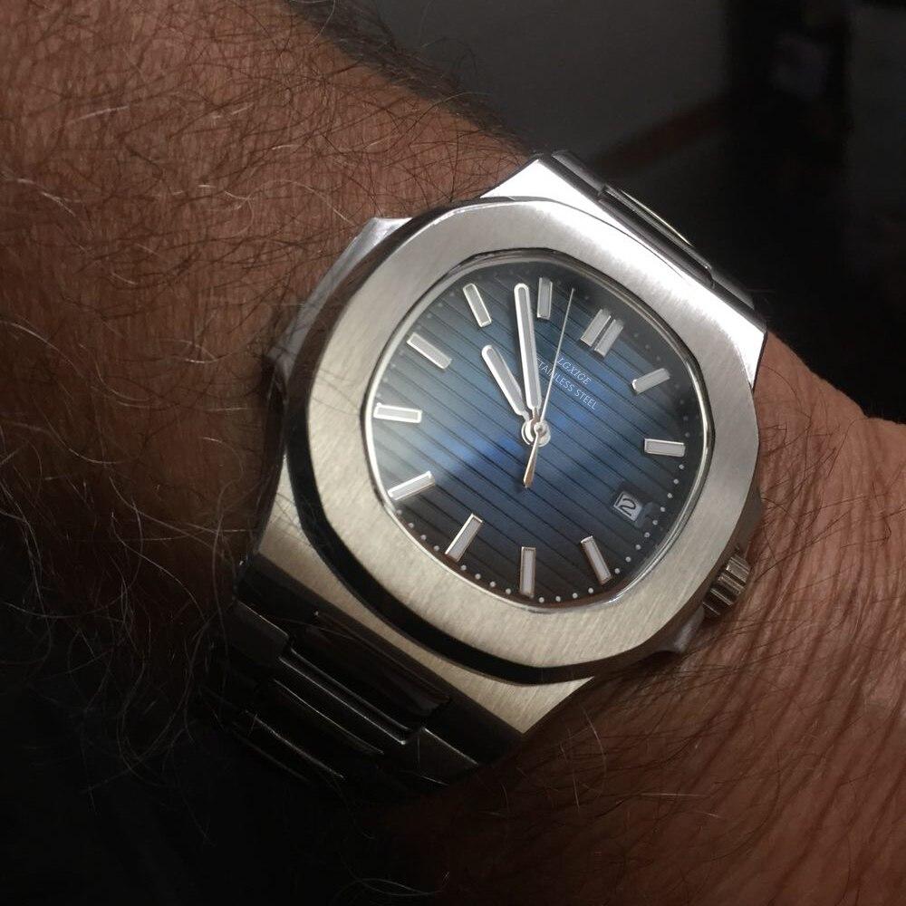 Famous Watches Top Brand Luxury Watch Full Steel Blue Male Fashion Business Wrist Watch For Men Patek Waterproof Army Clock 2019