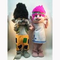 2018 Nieuwe Troll Mascotte Kostuum Trolls Karakter Mascotte Parade Kwaliteit Clowns Verjaardagen Troll Themafeest Mascotte Kostuum