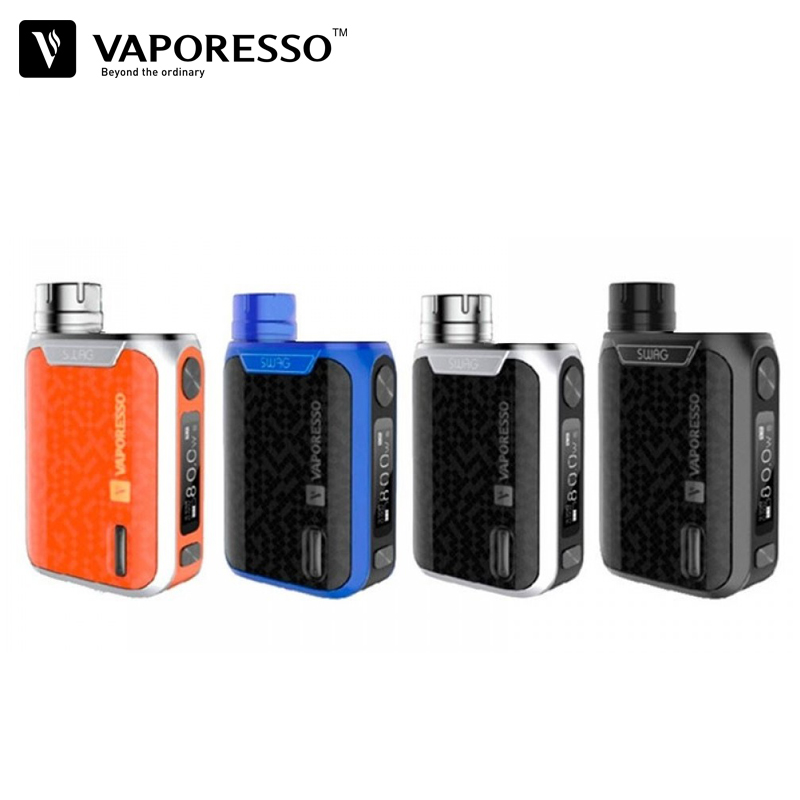 Vaporesso Swag Mod 80W Vape TC Box Mod 510 Thread Compatible With NRG SE Tank Portable Size Top Battery Cap Design Without 18650 voopoo drag 157w tc box mod