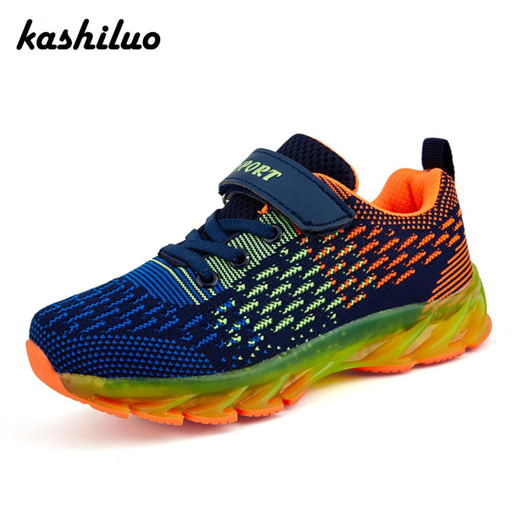 Kashiluo New Design Children sport running shoes boys girls cushion shoes Child Outdoor breathable Casual shoes kids sneakers camel shoes 2016 women outdoor running shoes new design sport shoes a61397620