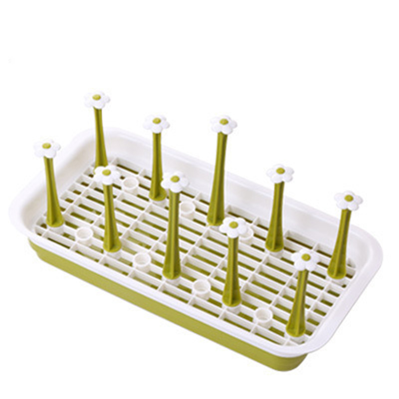Rectangle Drink Glass Bottle Cup Holder Kitchen Storage Shelf Cup Dish Drain Rack Hanger Prateleira Estate Rack KC1571