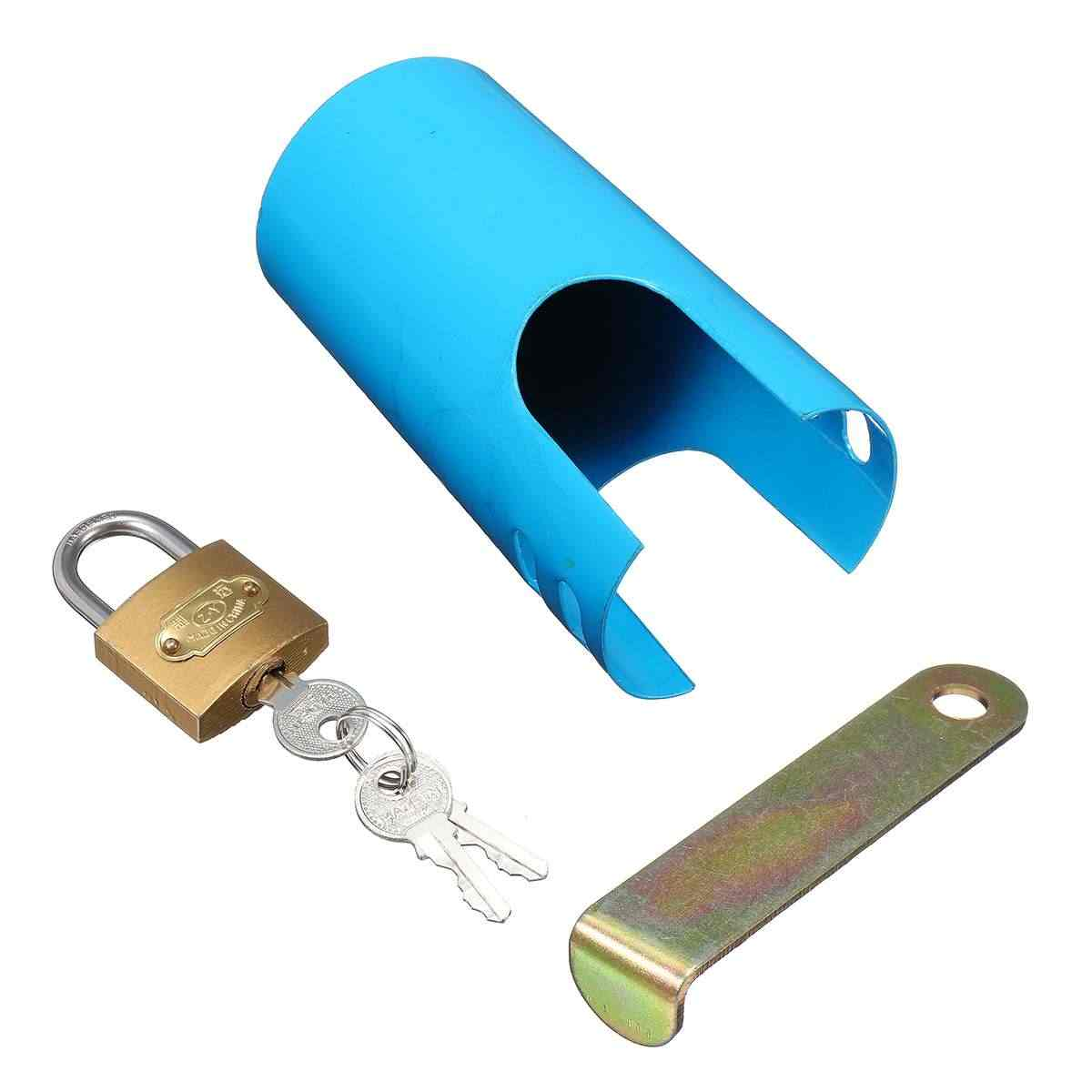1 セット鉄ロック可能なタップ保護カバー屋外ガーデン盗難安全ホームセンター台所の蛇口アクセサリー