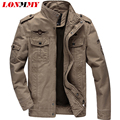 LONMMY M-6XL 2016 jacket mens bomber jacket men casual military style mens coat Air Force One jacket army coat Cotton 2016