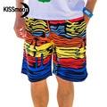 KISSmoon paisley colorida de secado rápido-gota de Agua Del Río Amarillo Naranja Rojo Azul troncos Pareja Hombres shorts junta KBS1106