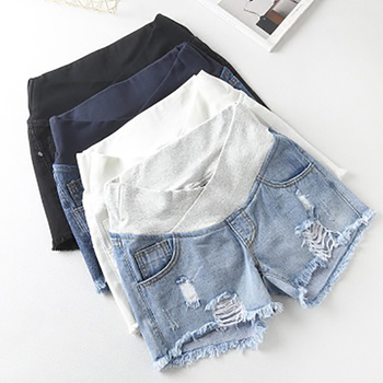 Pantalones cortos de verano para mujeres embarazadas 2019, pantalones cortos de mezclilla de cintura baja, ropa de verano nueva primavera, pantalones sueltos para mujeres embarazadas, ropa