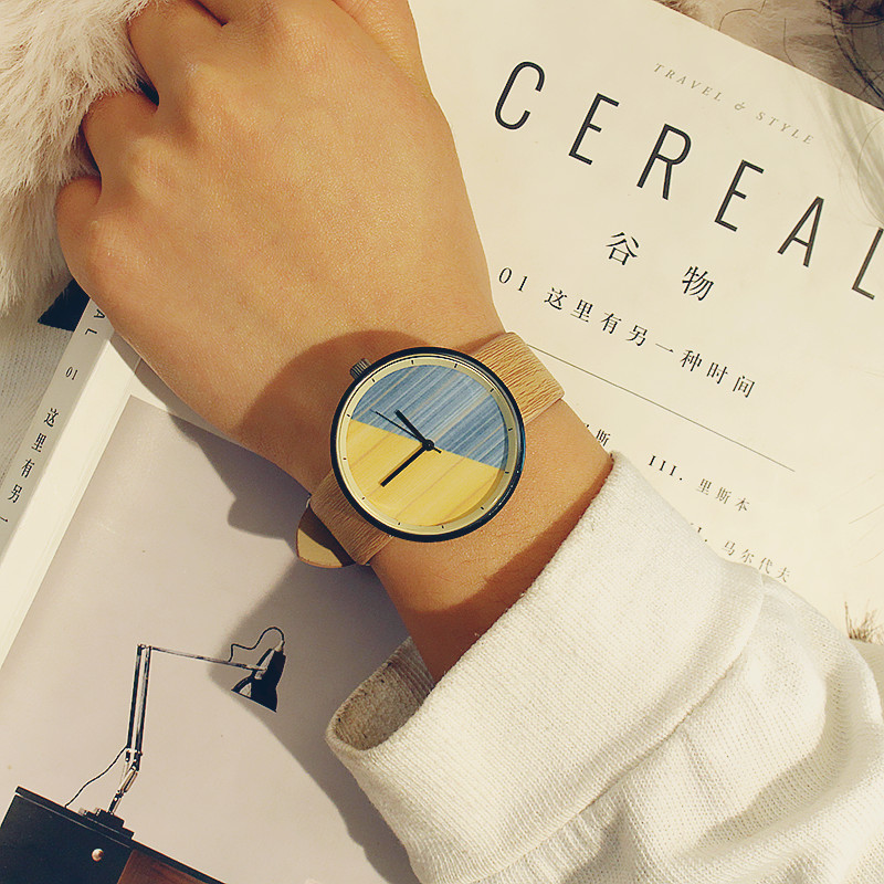 Chasy New Stitching design Fashion Wood grain watches