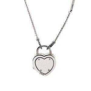 Image 2 - Подлинное серебро 925 пробы чокер замок ожерелья ваше обещание подвески ожерелья женские ювелирные изделия колье оптовая продажа