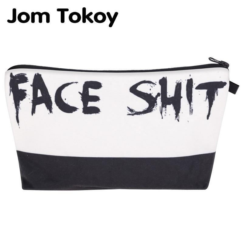 Jom Tokoy 2019 Cosmetic Organizer Bag Face Shit 3D Printing Cosmetic Bag Fashion Women Brand Makeup Bag