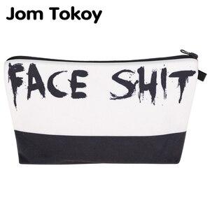 Jom Tokoy cosmétique organisateur sac visage merde 3D impression sac cosmétique mode femmes marque sac de maquillage