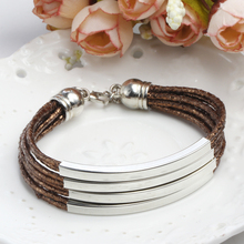 Multilayer Leather Charm Bracelets