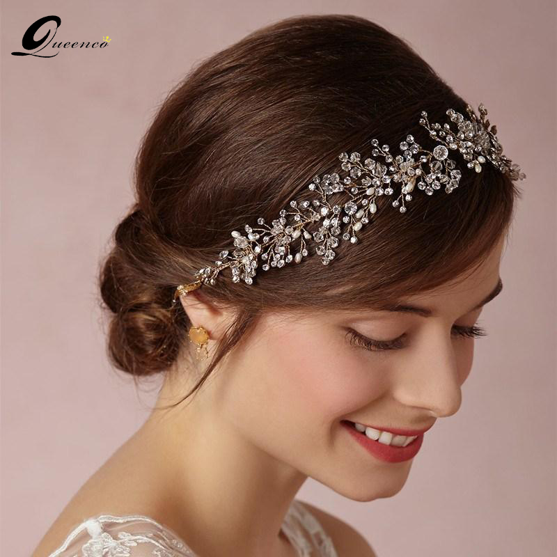 Gorgeous Crystal Bridal Headband Wedding Rhinestone Headbands Hair Accessories Bridal tiaras Bride Ribbon Headbands