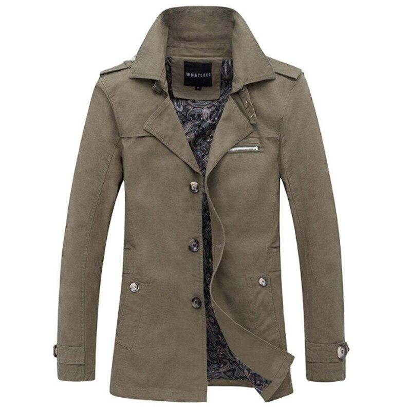 2017 Frühling Langen Trenchcoat Mann Britischen Stil Slim Fit Einreiher Trenchcoat Mode Herbst Windjacke Für