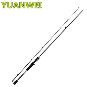 YUANWEI Casting Fishing Rod 2 Sections 1.8m-2.1m Hard Carbon 99% EVA Handle Lure Rods Vara De Pesca Casting Rod Canne A Mouche