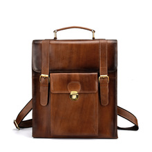 Для мужчин Мини Back Pack пояса из натуральной кожи ручная сумка через плечо пакет портфели для бизнес сумка дорожная повседневное Tote Threeuse