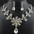 Conjuntos de jóias de noiva colar brincos teardrop choker de cristal africano beads set jóias wedding jewelry