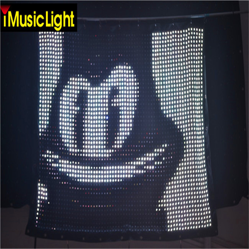 US $3259 0 |Free Shipping P3 2M*3M Led Video Curtain With PC Online  Controller Led Graphic Curtain,DJ Booth Motion Drap-in Stage Lighting  Effect from