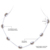 [Daimi] natural pérola colar, colar de cadeia de jóias de prata, gargantilha para As Mulheres, Casual Estilo da Jóia Da Noite, Presente relativo à promoção Para O Verão