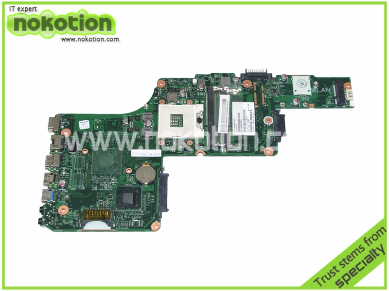 NOKOTION PN 1310A2491321 SPS V000275070 Laptop Motherboard for Toshiba Satellite S855 C855 Intel HM77 DDR3 Mainboard nokotion for toshiba satellite c850d c855d laptop motherboard hd 7520g ddr3 mainboard 1310a2492002 sps v000275280