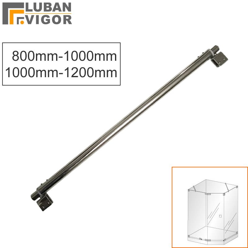 Useful,Stainless steel bathroom knighthead/fixed rod/clip,Adjustable length 800mm-1200mm,clips on both sides,shower accessoriesUseful,Stainless steel bathroom knighthead/fixed rod/clip,Adjustable length 800mm-1200mm,clips on both sides,shower accessories