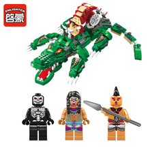 Enlighten 1310 Pirates Furious Crocodile 538 pcs Building Block Set Assembly Toy Christmas Gift