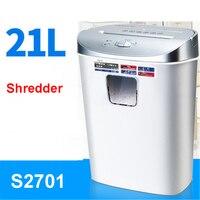 S2701 Mini Automatic electric paper shredder household file shredder electric silent card machine crushed 220V Shredder 4*45mm