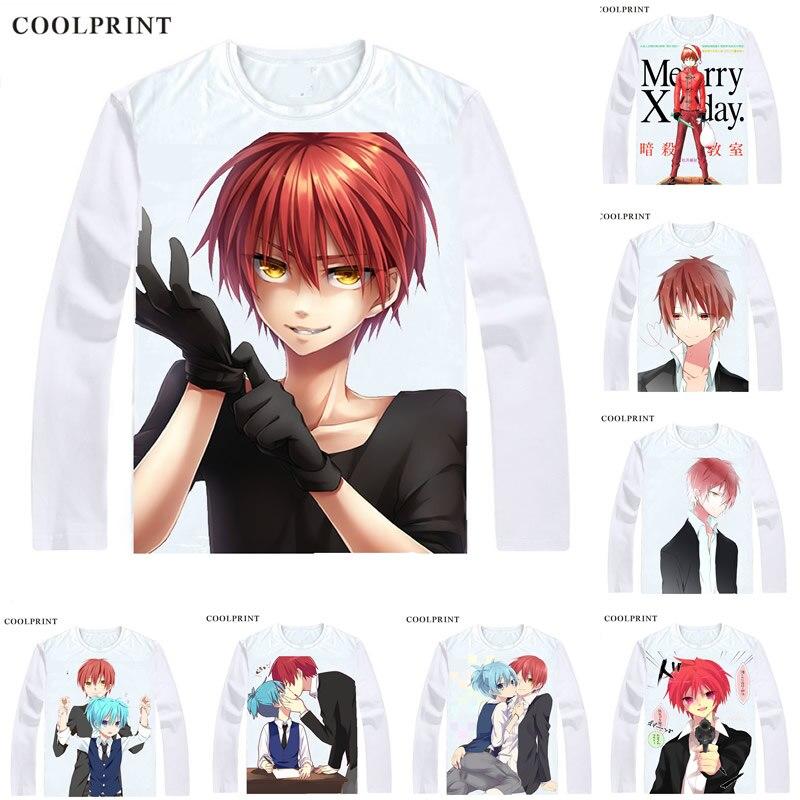 Assassination Classroom Ansatsu Kyoushitsu   T  -  Shirt   Long Sleeve   Shirts   Anime Akabane Karuma Akabane Karma Class 3-E Cosplay   Shirt