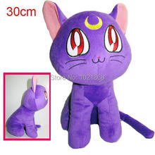Bonita soldado sailor moon brinquedo animal macio plush doll figuras cat(China)