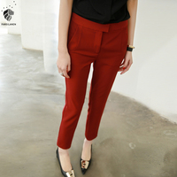 FANSILANEN 2017 Fashion New Arrival Spring Autumn Solid Women Work Pencil Pants Office Casual Black White