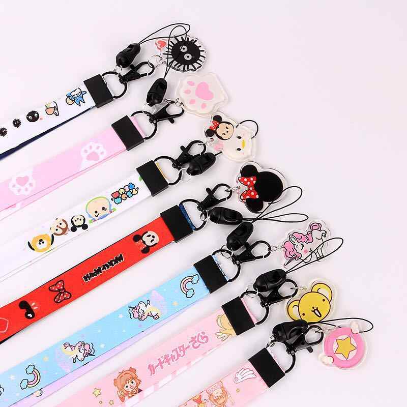 Cartoon Ribbon Cute Neck Strap Lanyard For Keys ID Card Gym Mobile Phone Straps USB Badge Holder DIY Hang Rope Lariat Lanyards