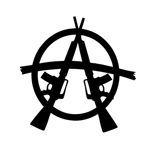 Anarchy Sticker M16 Ar15 Soa Jdm Decal Van Suv Truck Auto Venster